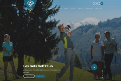 Traduction site web golf